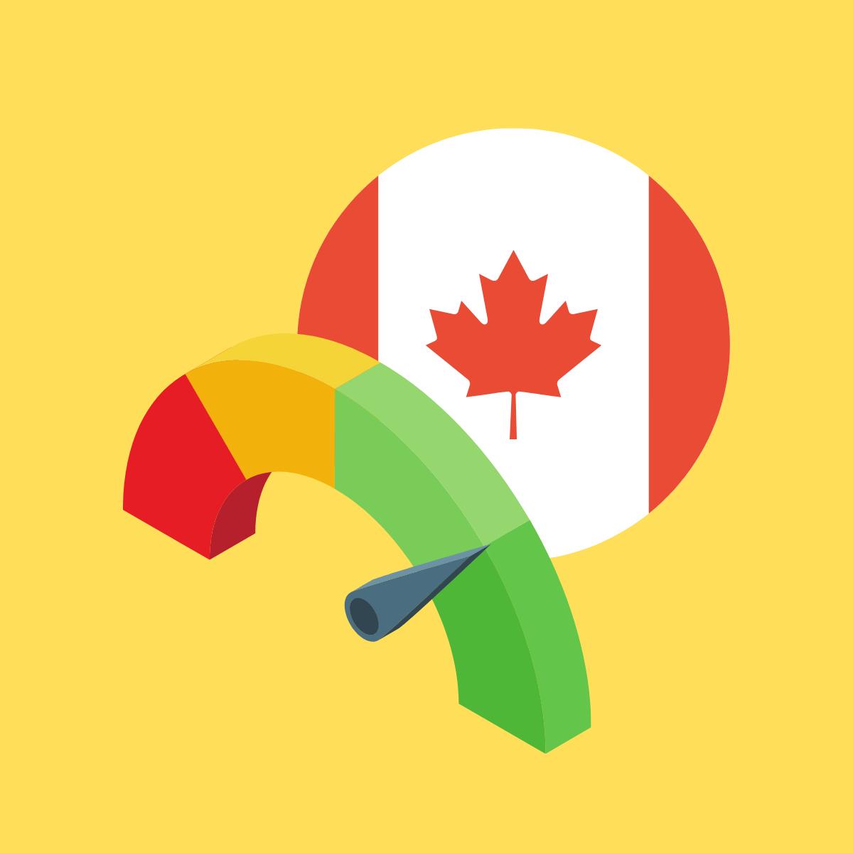 Quelle est la cote de crédit moyenne au Canada ?